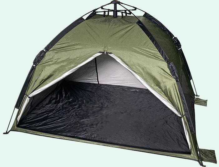 テントの入り口が広いこと