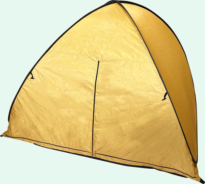テントの入り口をしっかりと閉じることができる